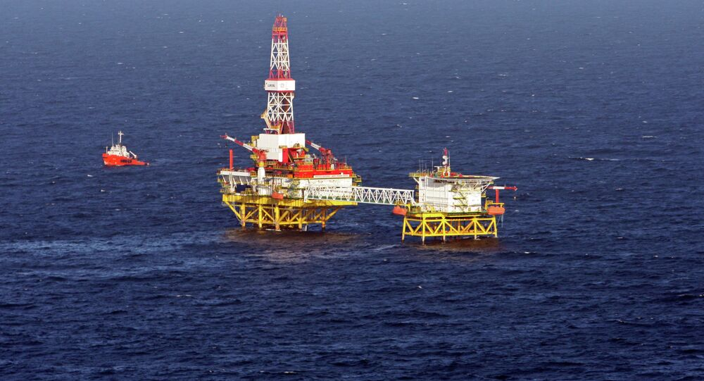 Fixed offshore ice-resistant platform of LUKoil