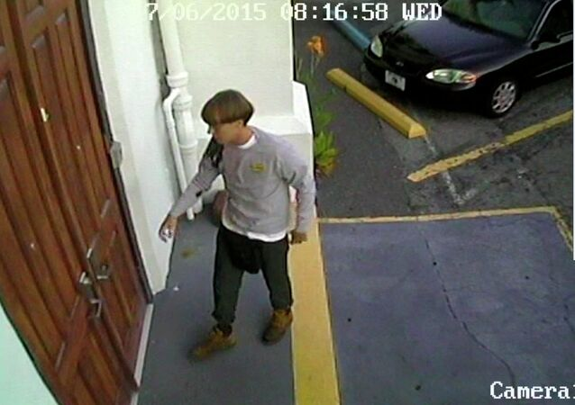 A suspect which police are searching for in connection with the shooting of several people at a church in Charleston, South Carolina is seen in a still image from CCTV footage released by the Charleston Police Department June 18, 2015
