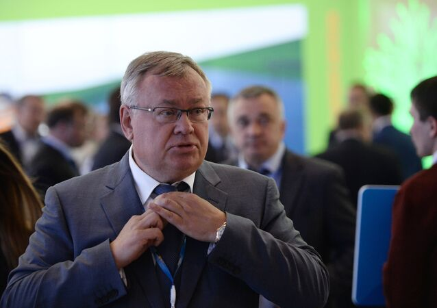 VTB Bank President, CEO and supervisory board member Andrei Kostin at the 2015 St. Petersburg International Economic Forum, June 18, 2015