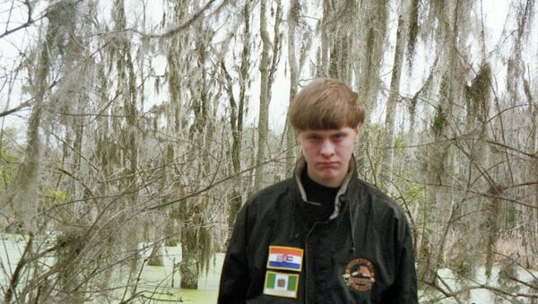 Dylann Roof is pictured in this undated photo taken from his Facebook account. Roof is suspected of fatally shooting nine people at a historically black South Carolina church in Charleston on June 18, 2015 - Sputnik International