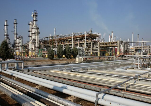 General view of part of the Tehran's oil refinery south of the capital Tehran, Iran.