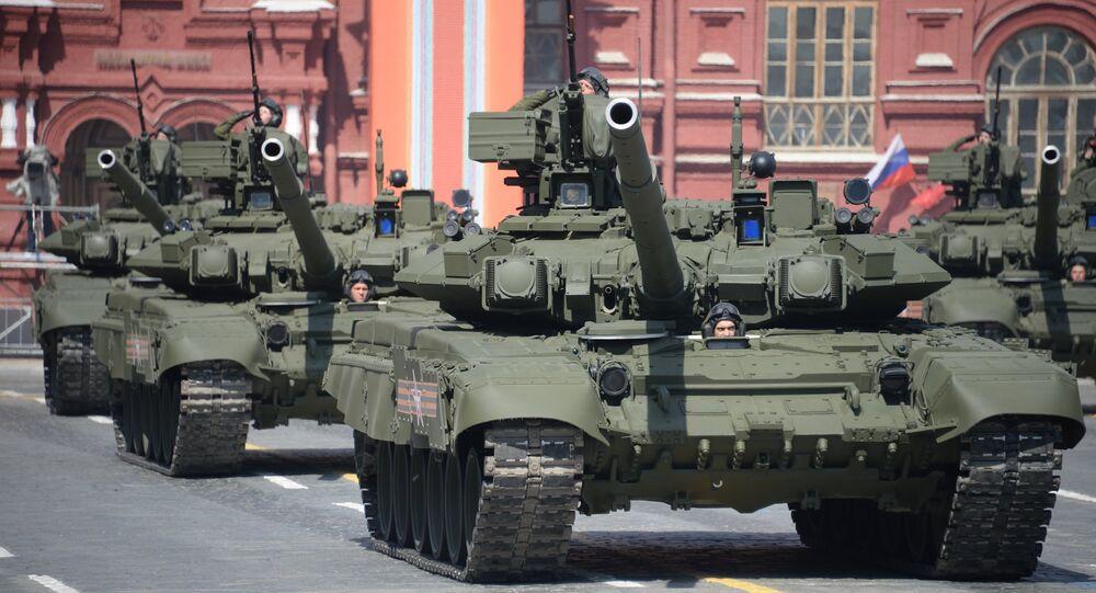 A T-90A main battle tank