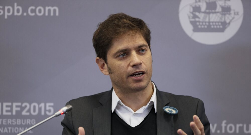 Axel Kicillof, Minister of Economy of Argentina, during the Business roundtable, Latin America: Globalization and New Regional Economic Hubs, held as part of the 2015 St. Petersburg International Economic Forum.
