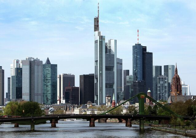 The skyline of Frankfurt am Main, central Germany