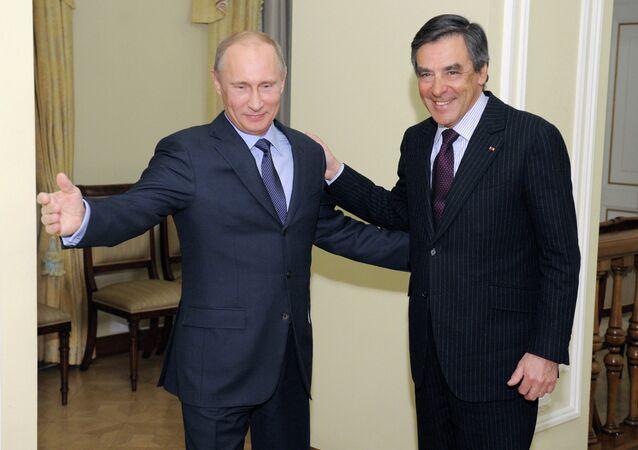 Vladimir Putin meets with Francois Charles Armand Fillon