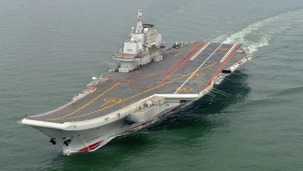 Chinese aircraft carrier Liaoning cruises for a test in the sea (File photo) - Sputnik International
