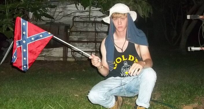 A photo Dylann Storm Roof, who killed nine parishoners in a Charleston church, taken from his personal site which included a racist manifesto
