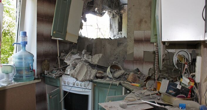 Kiev forces shelled Donetsk again, killing one person