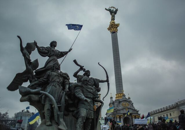 Rally to support Ukraine's integration with Europe on Independence Square, Kiev. (File photo)