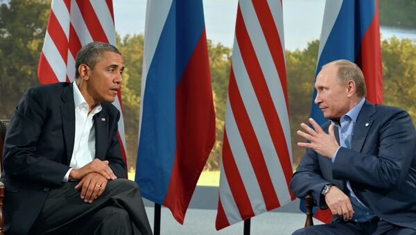 US President Barack Obama (L) holds a bilateral meeting with Russian President Vladimir Putin - Sputnik International