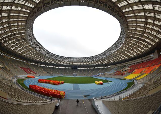 Renovation of Luzhniki stadium for 2018 football World Cup