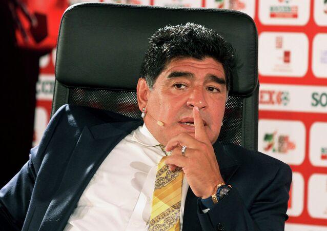 Argentina football legend Diego Maradona