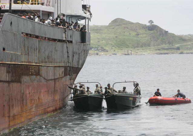 Philippine Coast Guard and Police Maritime unit.
