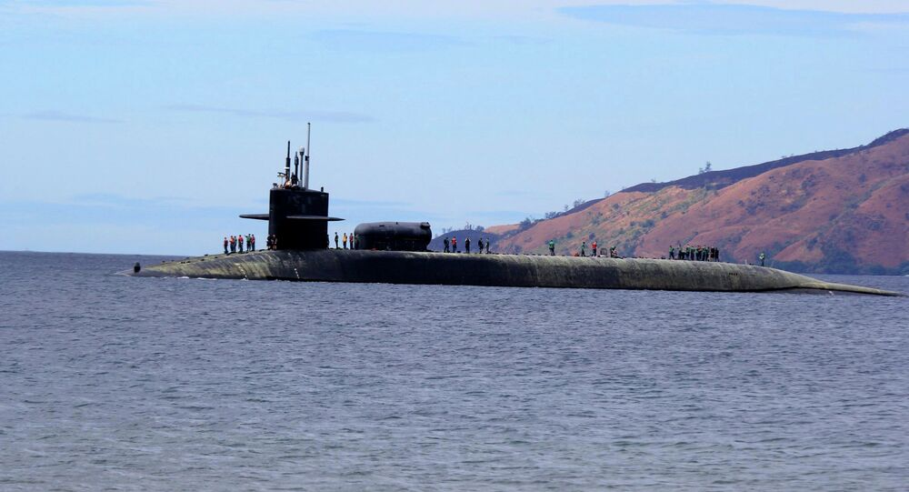 The USS Michigan Ohio-class guided missile submarine