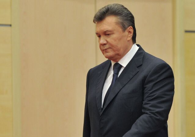 Viktor Yanukovich gives news conference