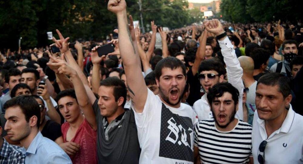 Protest in Yerevan