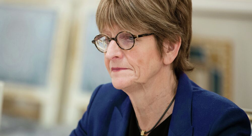 President of the Parliamentary Assembly of the Council of Europe (PACE) Anne Brasseur