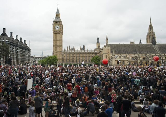 Anti-austerity rally in London