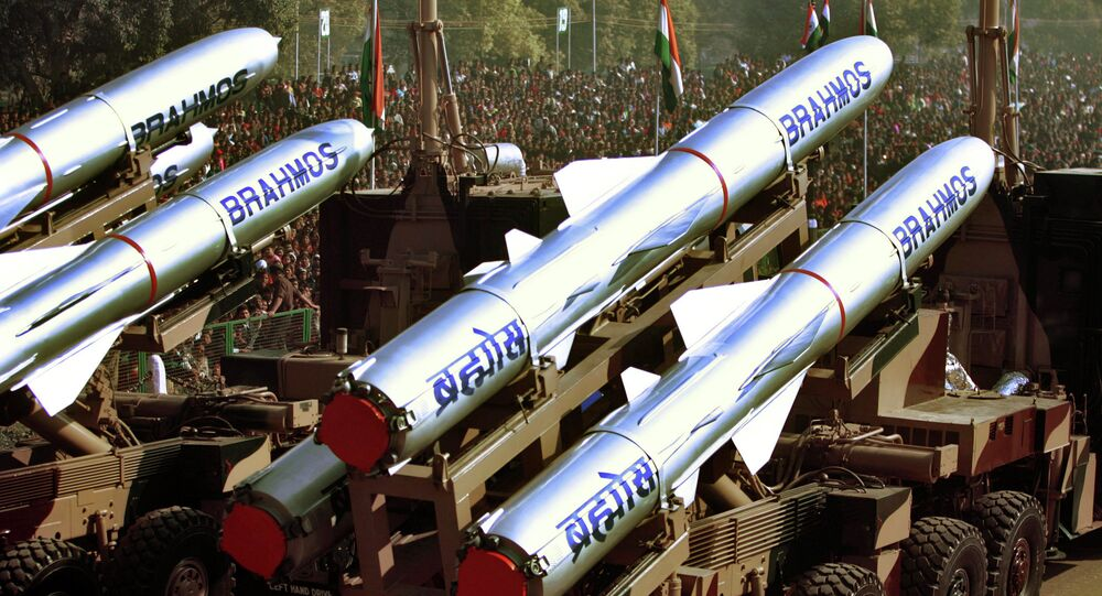The Indian Army's Brahmos Missiles, a supersonic cruise missile, are displayed during the Republic Day Parade in New Delhi, India.
