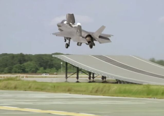 The US military has begun testing the ski jump take-offs for the F-35 fighter jet variant that is nearing initial operating capability for use by the US Marines.