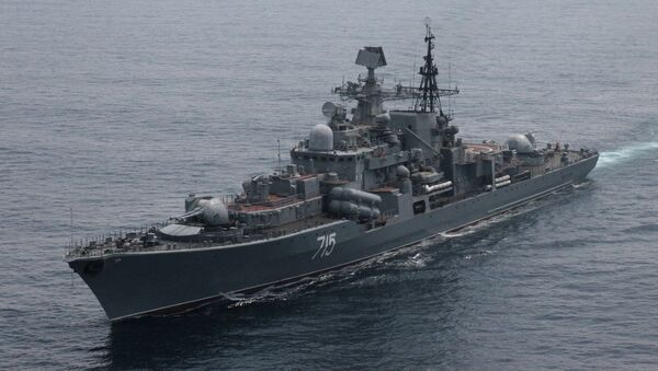 The squadron torpedo boat 'Bystry' of Russia's Pacific Fleet during the Naval Interaction - Sputnik International