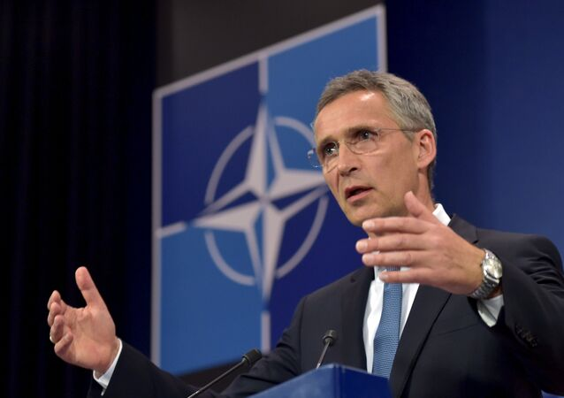 NATO Secretary General Jens Stoltenberg addresses a news conference after a meeting of the North Atlantic Council (NAC) in Defense Ministers session at the NATO headquarters in Brussels, Belgium, June 24, 2015