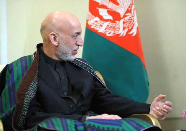 Former President of Afghanistan (2004-2014) Hamid Karzai