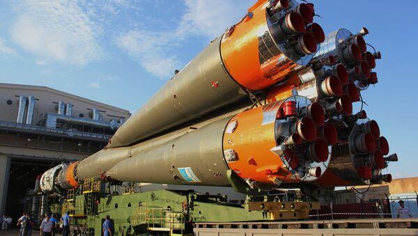 Soyuz-FG missile set on launchpad. File photo - Sputnik International