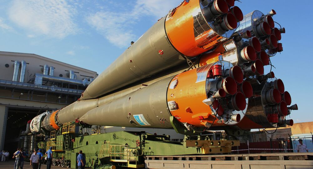 Soyuz-FG missile set on launchpad. File photo