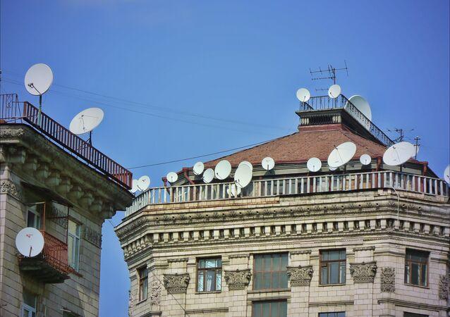 Satellite dishes in Kiev