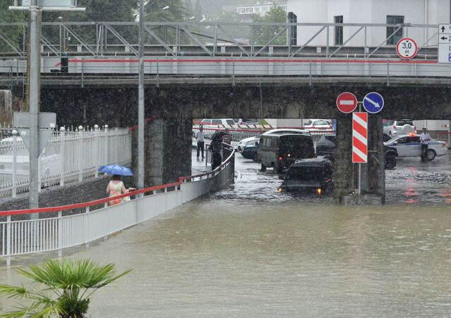 Sochi hit by flooding