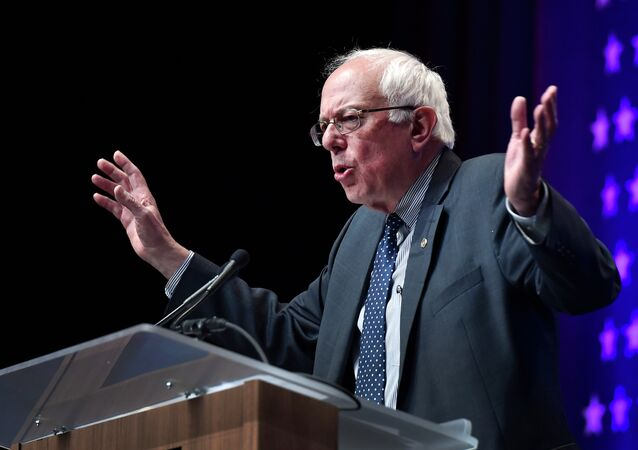 Democratic presidential candidate, Sen. Bernie Sanders, I-Vt. speaks at the National Association of Latino Elected and Appointed Officials, Friday, June 19, 2015, in Las Vegas