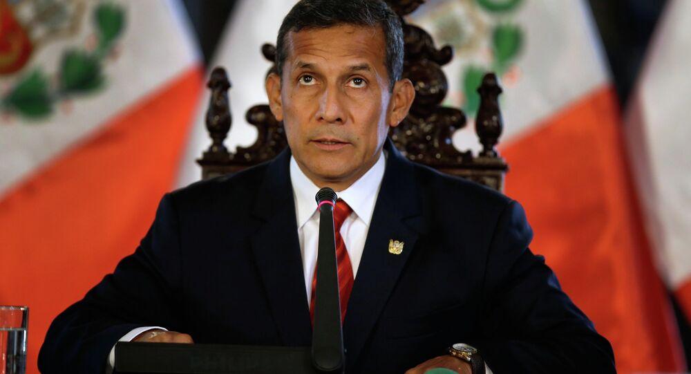 Peru's President Ollanta Humala