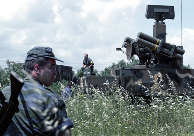 A battery of French made short range air defence system Crotale NG
