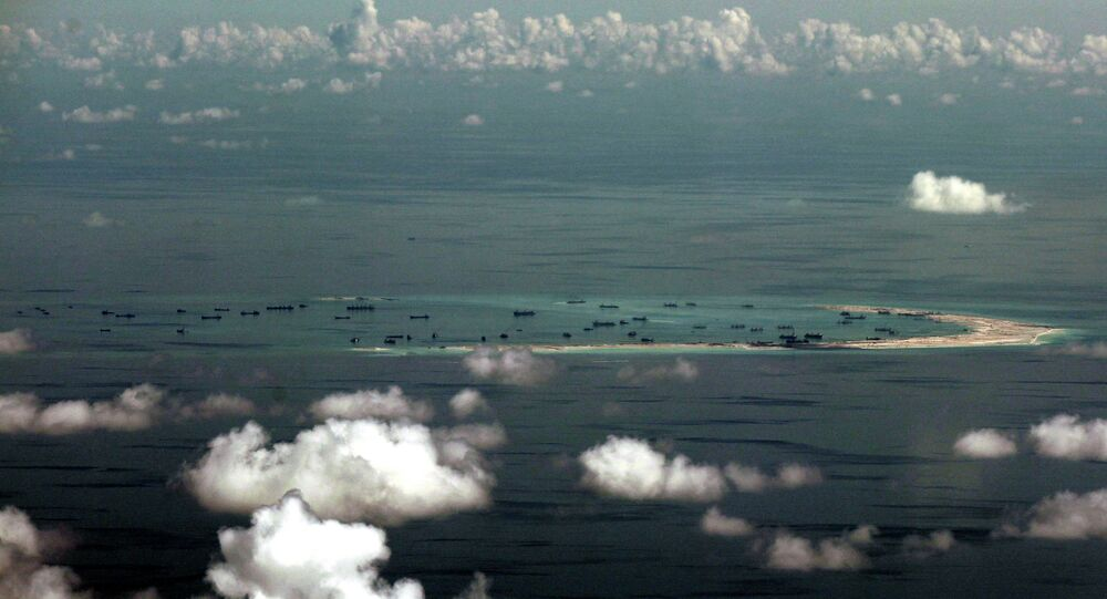 Spratly group of islands in the South China Sea, west of Palawan