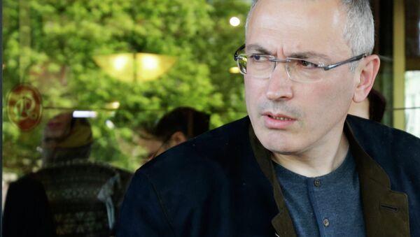 Mikhail Khodorkovsky meets with journalists in Donetsk - Sputnik International
