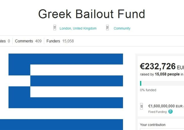 Thom Feeney, originally from York but currently residing in London, has had enough. He came up with the amusing idea of letting Europeans sort the Greek crisis out by crowdfunding and subsequently paying off the entire amount of the Greek government's debt — that is no less than €1.6 billion ($1.8 billion).