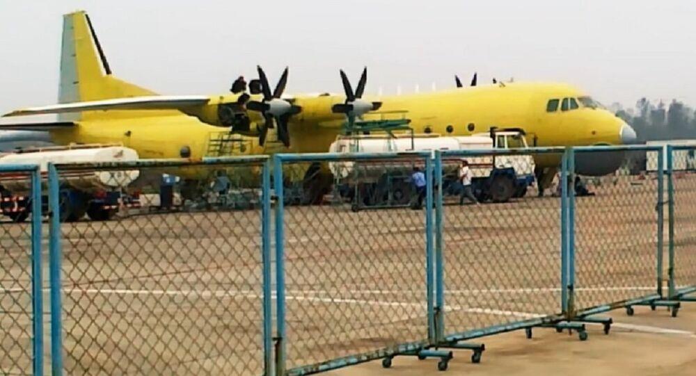 The four-engined Y-8GX6 (Y-8Q) turboprop anti-submarine warfare (ASW) aircraft