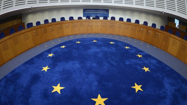 Picture taken on April 23, 2015 shows the audience room of the European Court for Human Rights, in Strasbourg, eastern France - Sputnik International