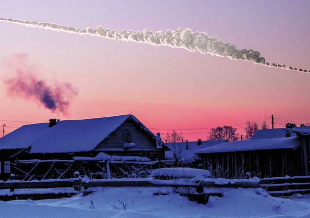 Reconstructions of the path and damage caused by the asteroid that exploded over Chelyabinsk, Russia, in Feb. 15, 2013