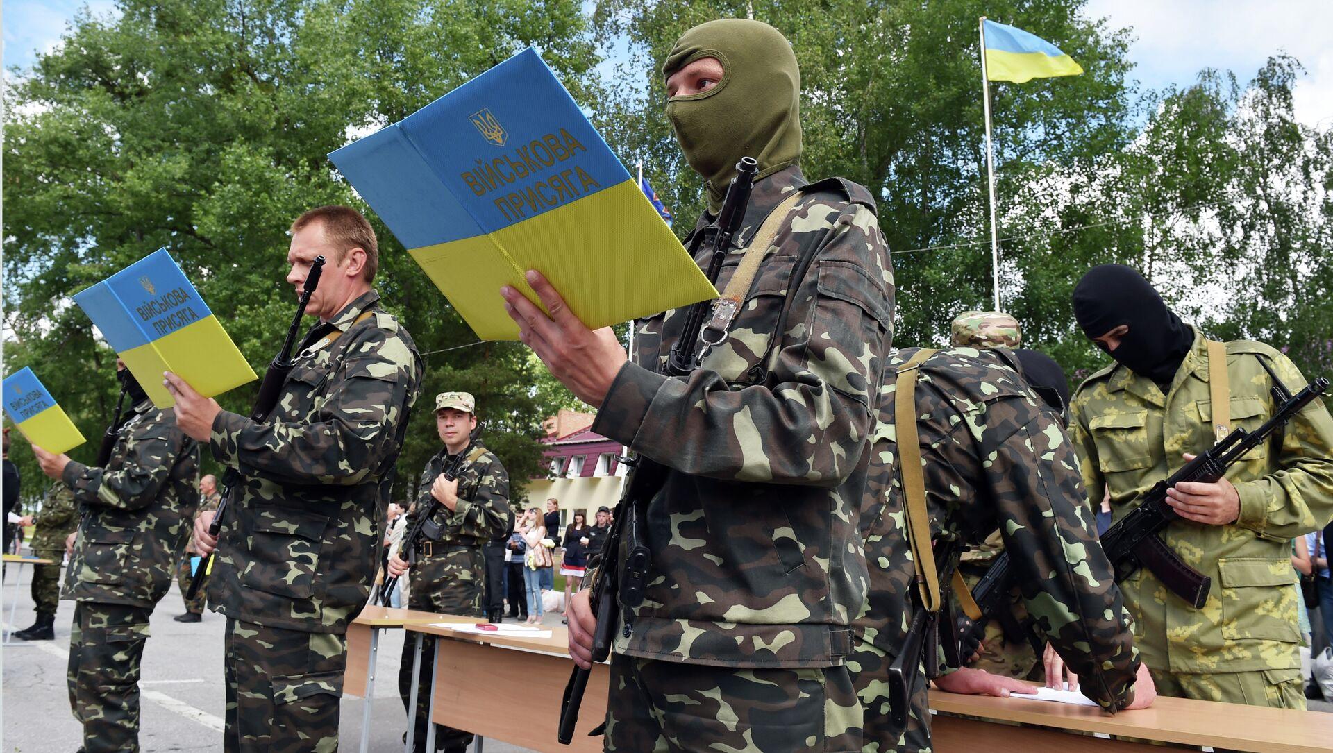 New volunteer recruits of the Ukrainian Army - Sputnik International, 1920, 06.08.2021