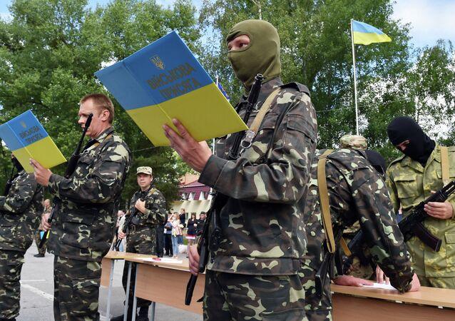 New volunteer recruits of the Ukrainian army