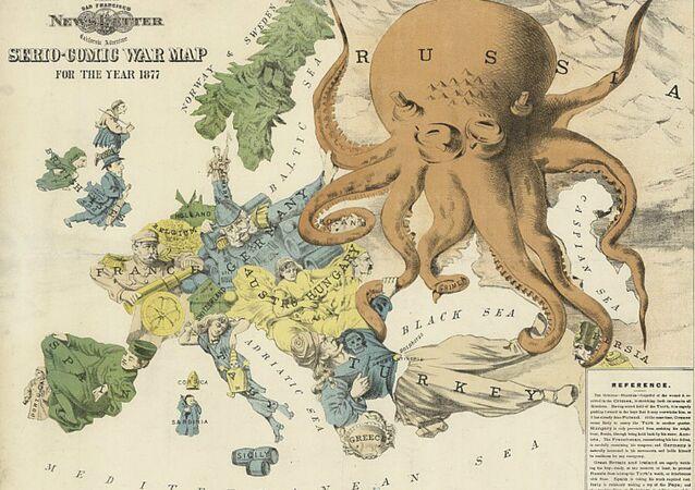 Serio-comic war map for 1877