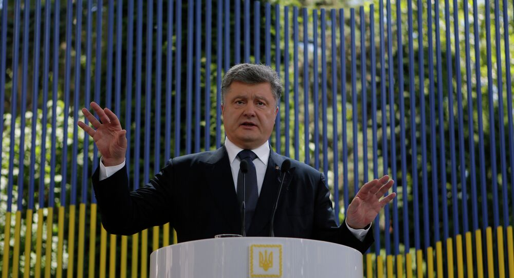 Ukraine's President Petro Poroshenko speaks during news conference in Kiev, Ukraine, Friday, June 5, 2015