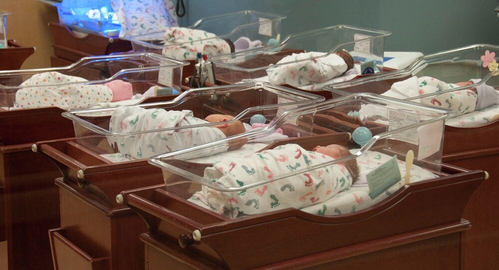 Hospital nursery.