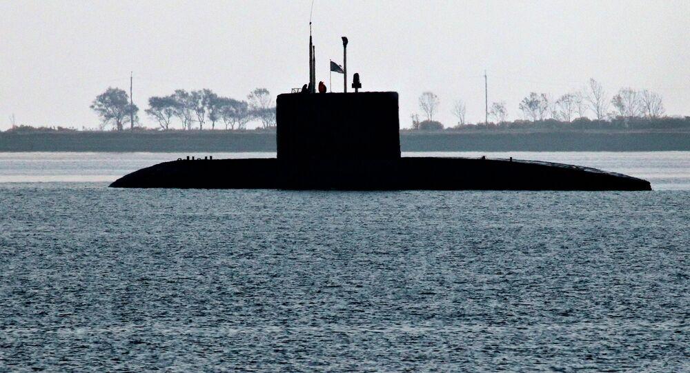 Diesel submarine of the Varshavyanka class