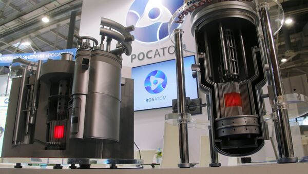 Models of nuclear reactors BREST and MBIR at Rosatom's stand at the 11th National Forum and Exhibition Goszakaz - 2015 - Sputnik International