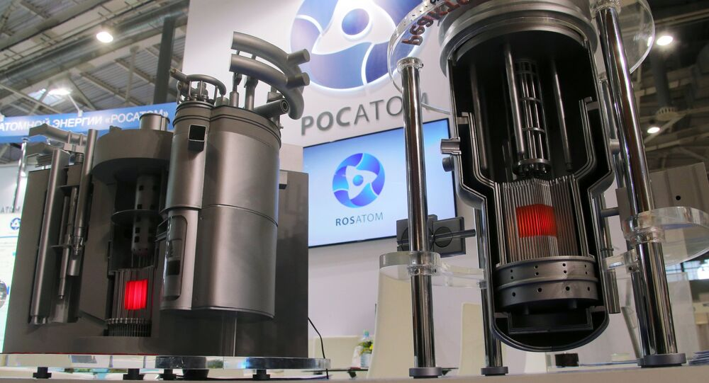 Models of nuclear reactors BREST and MBIR at Rosatom's stand at the 11th National Forum and Exhibition Goszakaz - 2015