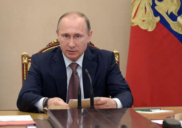 President Vladimir Putin holds Security Council meeting