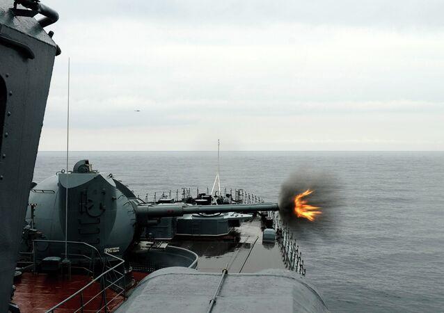 AK-130 naval artillery unit